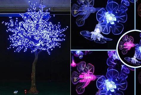 led color changing led white led cherry blossom tree light