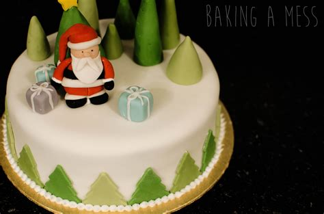 christmas cake decoration  basics baking  mess