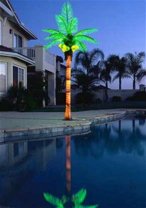 custom  palm trees  lighted palm tree