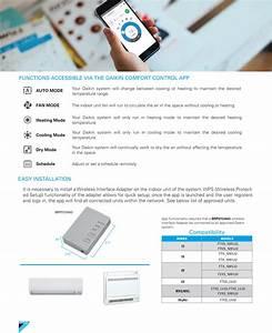 Mini Split Daikin Comfort Control App  U0026 Wireless Interface
