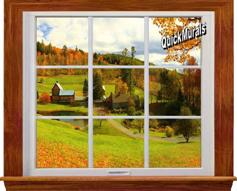 Country Window 1piece Peel & Stick Wall Mural