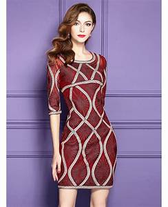 high end embroidered bodycon dress wedding guests formal With bodycon wedding guest dresses