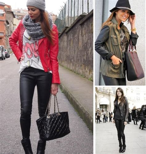 Con casaca de cuero rojo | Moda | Pinterest | Cuero rojo ...