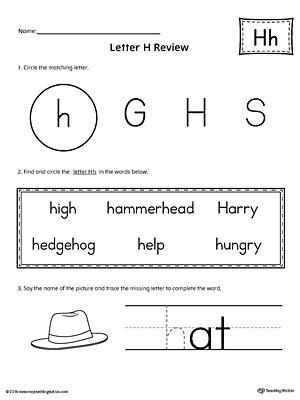letter h worksheets learning the letter h worksheet myteachingstation 49960