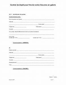 Depot Vente Voiture Aisne 02 : contrat de d p t pour fins de vente d 39 uvres en galerie ~ Gottalentnigeria.com Avis de Voitures