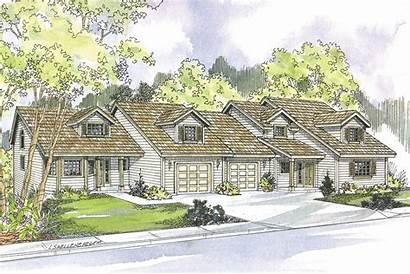 Plan Plans Carmichael Duplex Country Designs Houzz