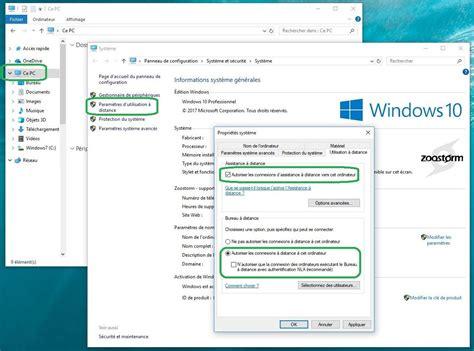 autoriser connexion bureau à distance comment utiliser la fonction bureau à distance sur windows