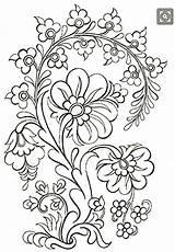 Embroidery Patterns Coloring Mexican Folk Jacobean Crewel Machine Ribbon Para Dibujos Bordar sketch template