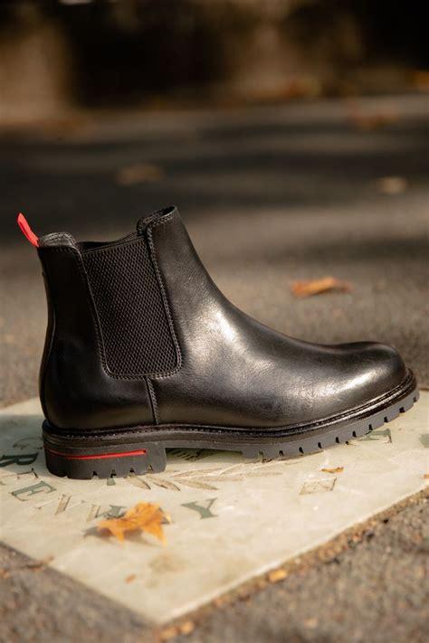 CLAPTONN - Chunky Sole Chelsea Boots - black | Dune London ...