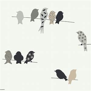 wallpaper and wall borders walmartcom With best brand of paint for kitchen cabinets with birds on a wire metal wall art
