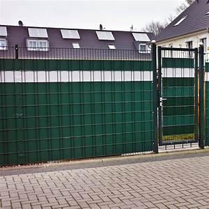 Zaun Sichtschutz Grün : sichtschutz rolle 140m gr n ral 6005 0 7 kg m doppelstabmatten 80 clips ebay ~ Watch28wear.com Haus und Dekorationen