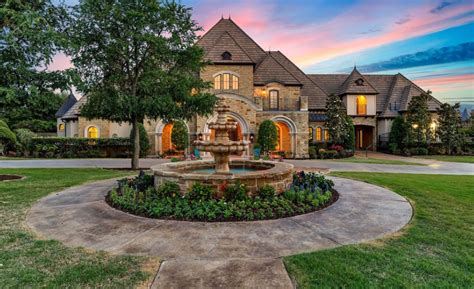 square foot stone stucco mansion  fort worth