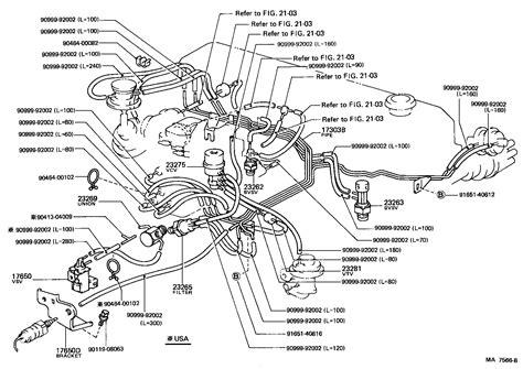 1986 Toyotum 4x4 Wiring Harnes by Toyota 4 Runner Truckrn50l Krk Tool Engine Fuel Vacuum