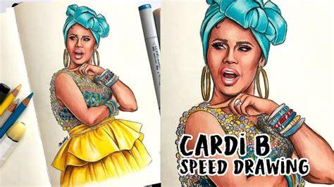 Drawing Cardi B Logo