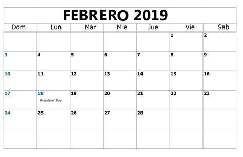 calendario febrero calendario febrero