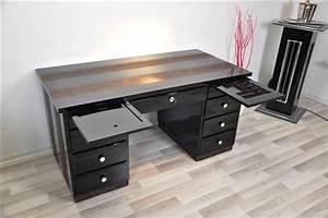 Art Deco Schreibtisch : art deco schreibtisch mit schlangenlederoptik original antike m bel ~ Orissabook.com Haus und Dekorationen