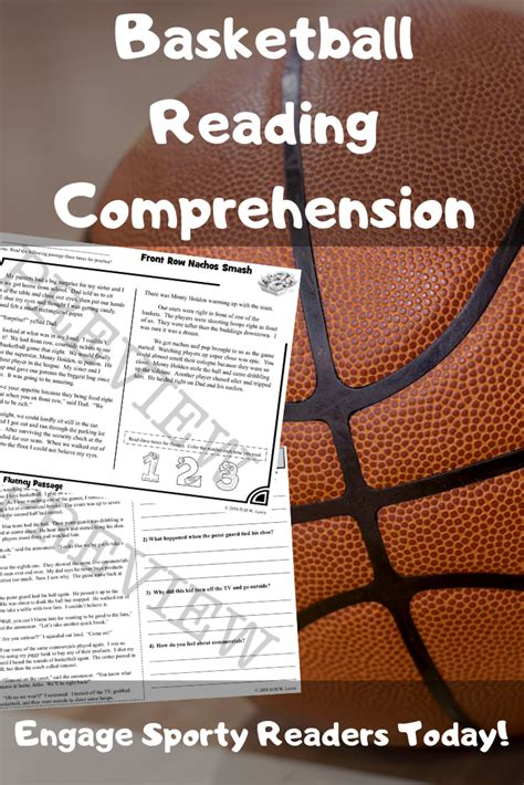 basketball reading passages sports reading  images