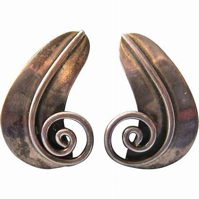 Earrings Sterling Silver 925 Mexico Signed