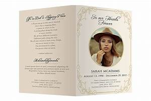 Funeral program template brochure templates creative for Funeral leaflet template
