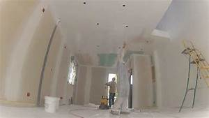 Peindre Un Plafond Au Pistolet : comment peindre un plafond youtube ~ Dailycaller-alerts.com Idées de Décoration