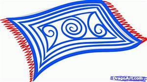 How to draw a rug step by step stuff pop culture free for Drawing of carpet design