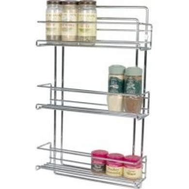 Spice Racks Australia by Organise It All 3 Tier Wall Mounted Spice Rack In Chrome