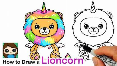 Draw Rainbow Easy Lioncorn Unicorn Lion