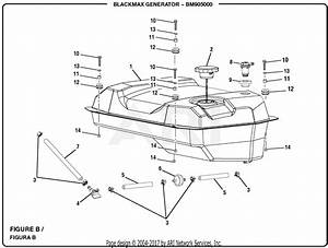 Homelite Bm905000 5000 Watt Generator Parts Diagram For