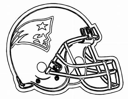 Coloring Football Helmet Pages College Printable Getcolorings