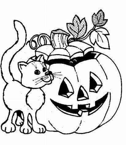 Coloring Pages Halloween Cat Printable Anime Spongebob
