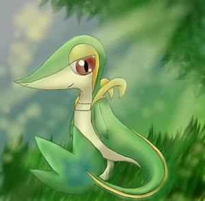 Pokemon: Snivy by Ink-Leviathan on DeviantArt