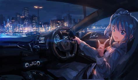 Anime Car Wallpaper - anime car city anime aikatsu