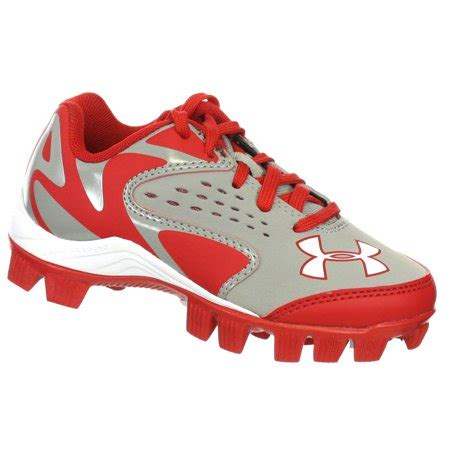 armour leadoff  rm jr grey red youth molded