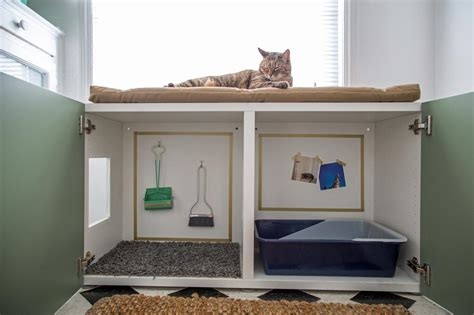 litter box cabinet how to conceal a kitty litter box inside a cabinet how