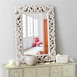 Miroir Baroque Maison Du Monde : miroir en manguier blanchi 60x80 maisons du monde ~ Melissatoandfro.com Idées de Décoration