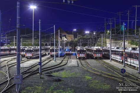 St Louis Light Rail by St Louis Metro Light Rail Yard Metroscenes St