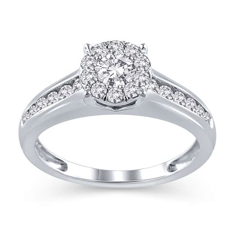 white gold jk ii diamond engagement ring walmart