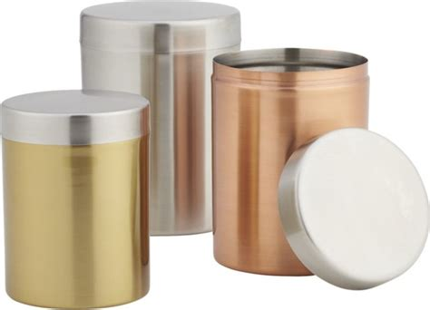 kitchen canisters and jars 3 mixed metal canister set modern kitchen