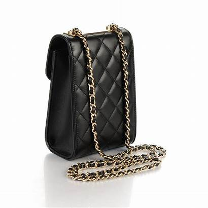 Trendy Cc Chanel Quilted Lambskin Holder Phone