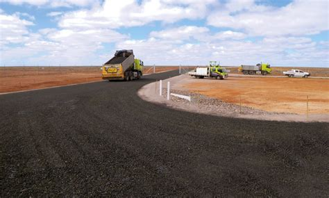 test range road connection woomera intract