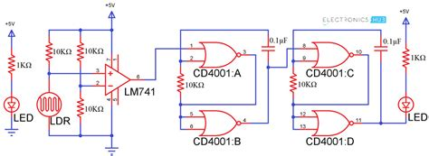 Led Circuit Diagram Letter by Electronic Letter Box Project Circuit And Its Working