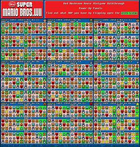 This Is A Map Of The Item Houses On New Super Mario Bros