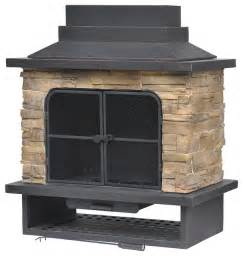 Gas Fire Inserts To Fireplaces by Garden Treasures Brown Steel Outdoor Wood Burning