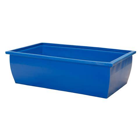 Wasserbecken Kunststoff Eckig by 110 Gallon Blue Rectangular Open Top Tank U S Plastic Corp