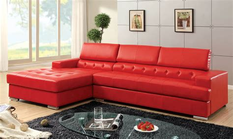 stylish modern red sectional sofas