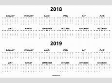 Printable Calendar 2018 To 2019 – 2018 Calendar Template