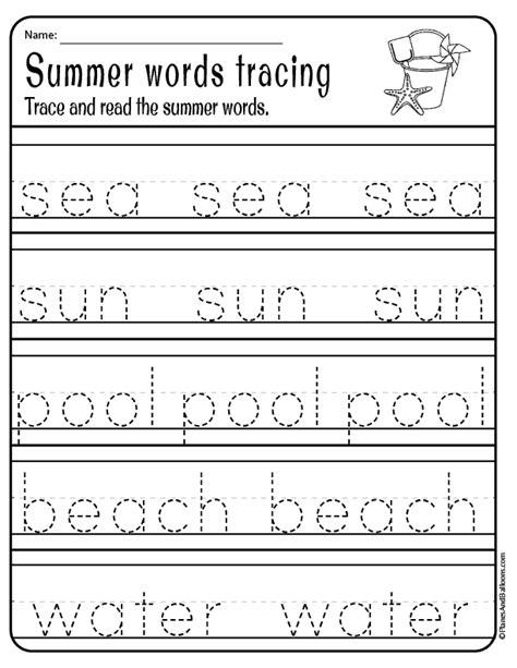 irresistible summer worksheets pdf printables for pre k and kindergarten