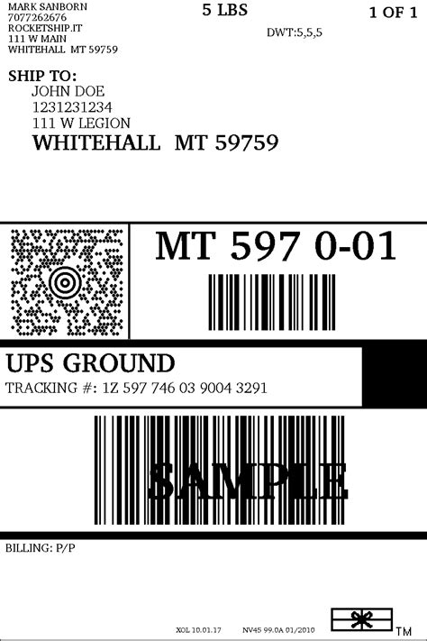 ups prepaid shipping label top label maker