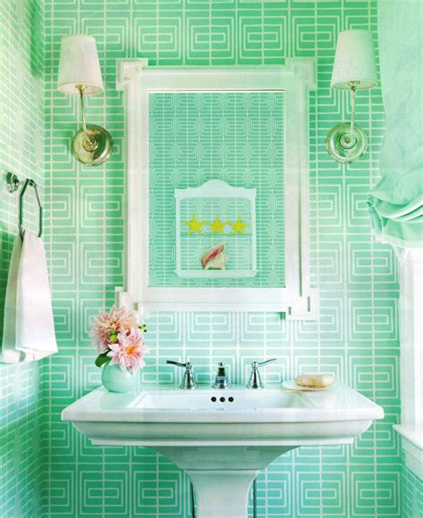 bright green bathroom tiles bring a pretty pop of