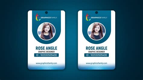 company id card design  psd template graphicsfamily